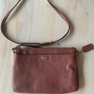 Like New Authentic Coach Leather Purse pink/mauve